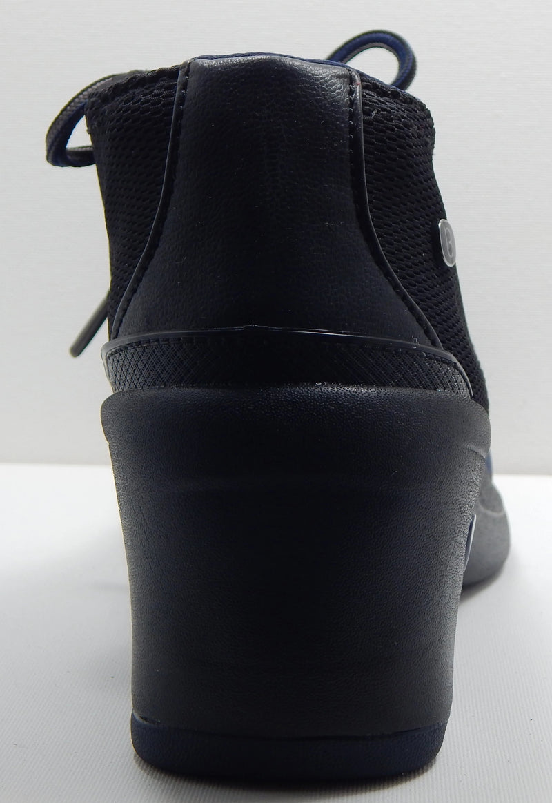 Bzees Ease Ankle Boots Navy/Black Stripe
