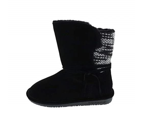 BEARPAW Black Maggie Patchwork Boot