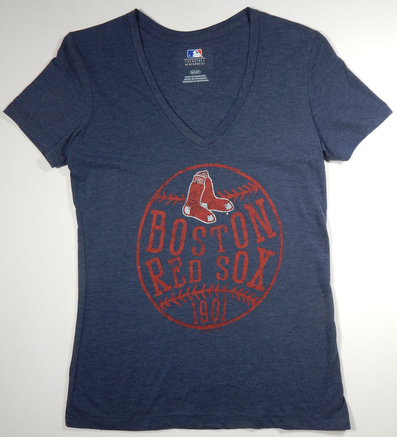 Boston Red Sox Women's T-Shirt Heather Navy