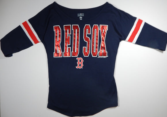 Boston Red Sox Women's 3/4 Sleeve T-Shirt F