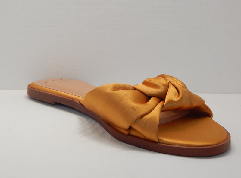 A New Day Women's Stacia Knotted Satin Slide Sandals