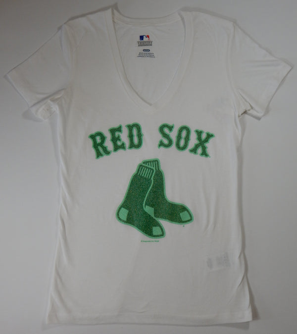 Boston Red Sox Women's White St. Patrick T-Shirt