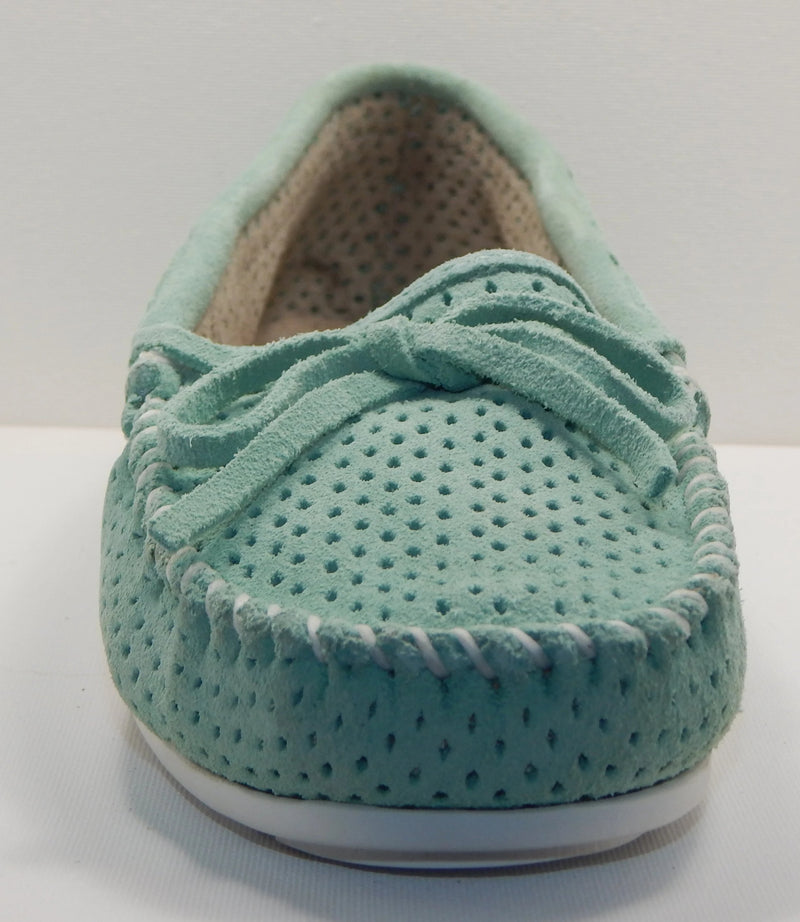 Minnetonka Lisa Mint Moccasins