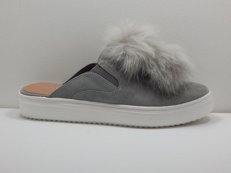 Steven by Steve Madden Gray Luxe Pompom Shoes