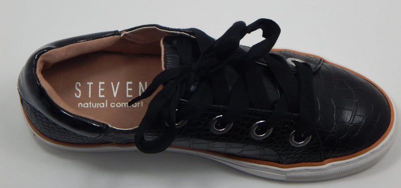 Steven by Steve Madden Union Black Croc Sneakers