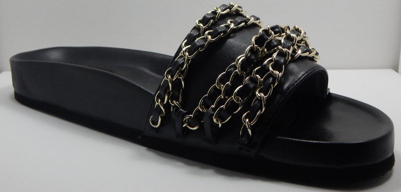 Wendy Williams Black Chain Slides