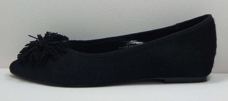 Wendy Williams Women's Pom Flat in Black