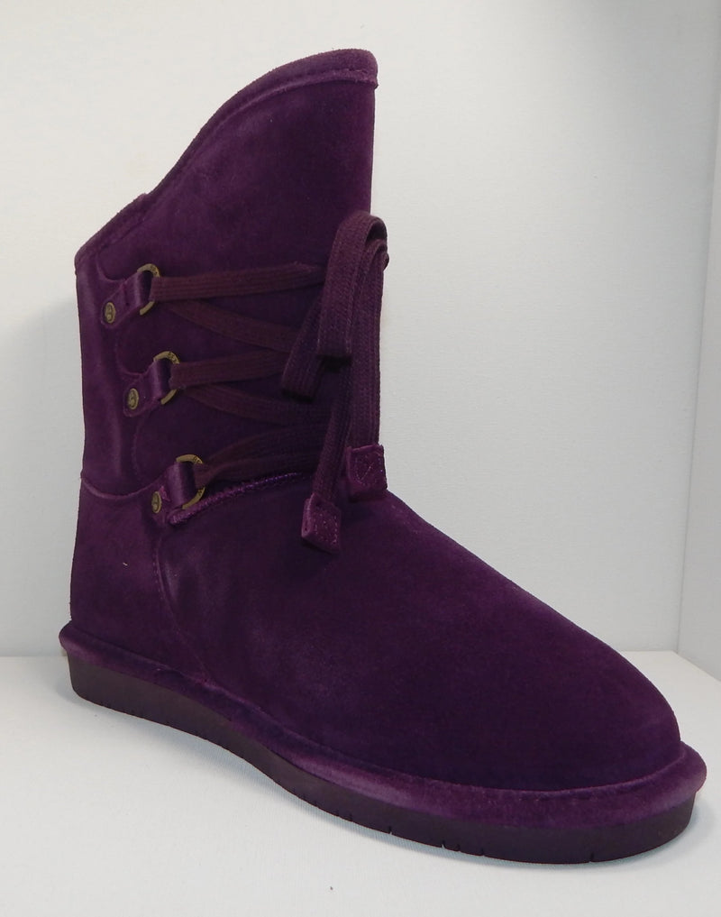BEARPAW Colby Plum Lace Up Boot