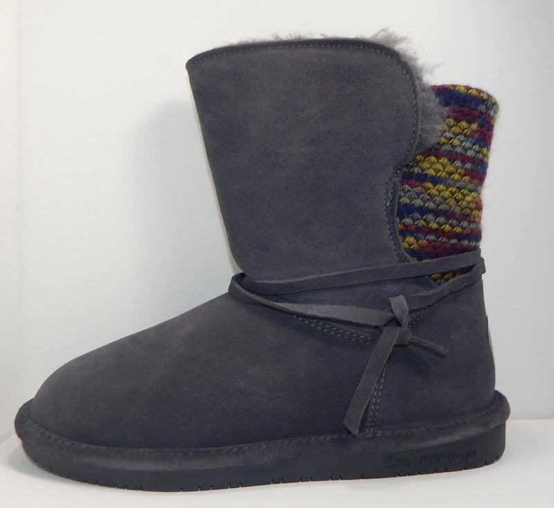 Bearpaw Maggie Charcoal Patchwork Boot