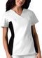 Cherokee Women's V-Neck Knit Panel Top 2874