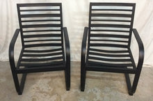NEW Two Fort Walton Black Steel Patio Dining Chairs