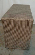 NEW Edgewood Beige Wicker Sectional Side Table