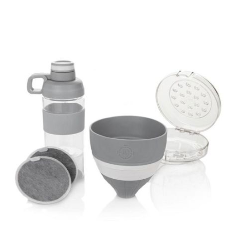 Joy Mangano 5 Piece Water Filter Set Silver Gray