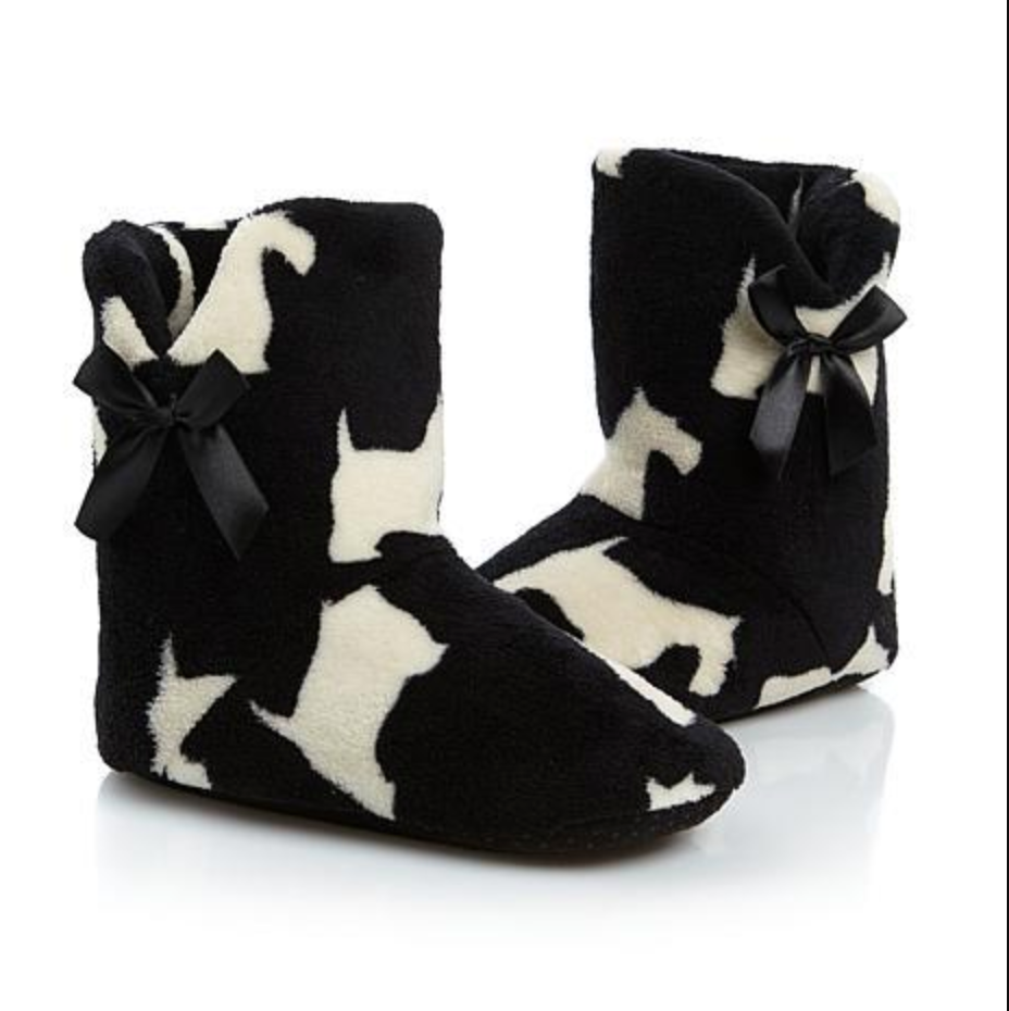NEW Jeffrey Banks Westie Plush Booties