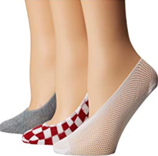 Steve Madden 3 PacK Nude Footie Fish Net & Mesh Socks