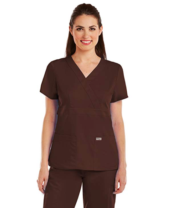 Grey's Anatomy by Barco - Women's Mock Wrap Scrub Top 4153