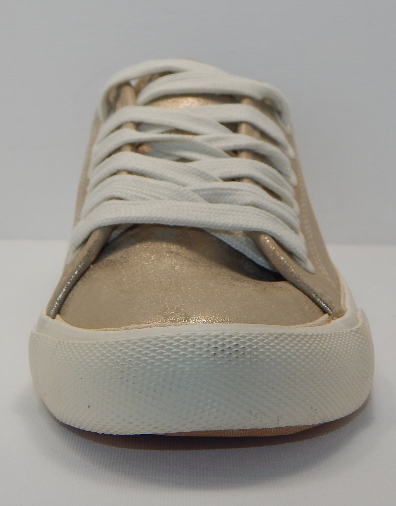 Universal Thread Women's Gold Mary Metallic Lace Up Sneakers