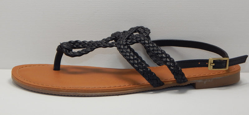 Universal Thread Women's Jana Black Braided Sandal