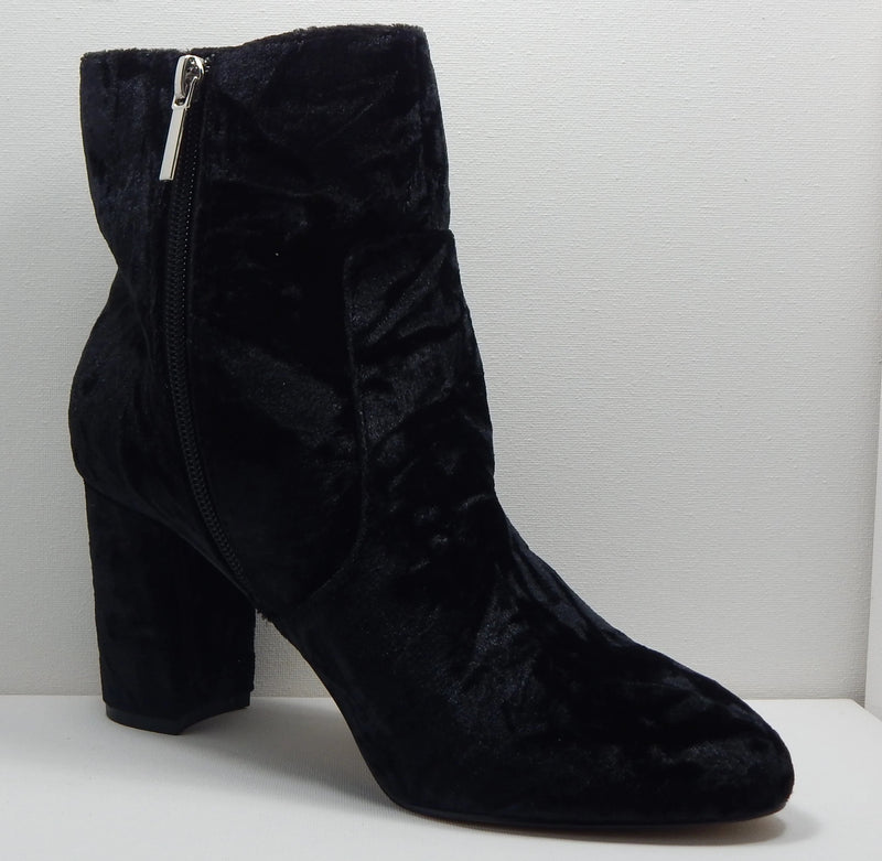 Wendy Williams Black Suede Ankle Boot