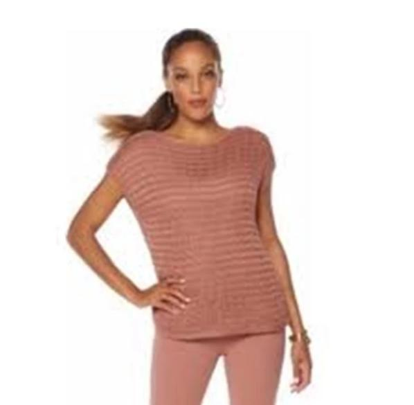 NENE by Nene Leakes Crochet Knit Boxy Top