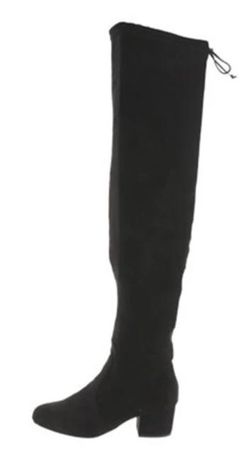 Wendy Williams Over the Knee Black Boots