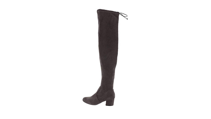 Wendy Williams Over the Knee Grey Boots