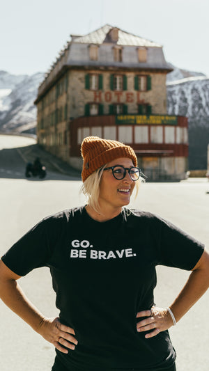 GO.BE BRAVE. Unisex T-shirts