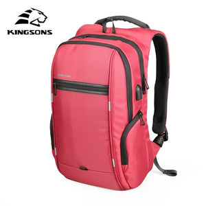 Kingsons Anti-theft Multifunction USB Charging 15 17 inch Laptop Backpacks