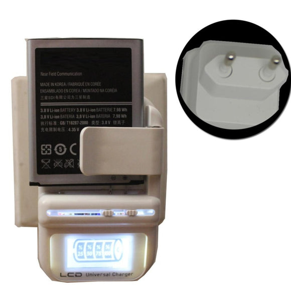 EU PLUG Universal Battery Charger LCD Indicator Screen