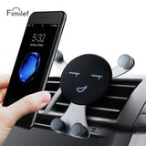 Smile Face Gravity Smartphone Car Cell Phone Holder