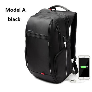 Kingsons KS3140 Men Women Laptop Backpack with USB Charge Multi-function Waterproof Business Leisure Travel School Bag Backpack