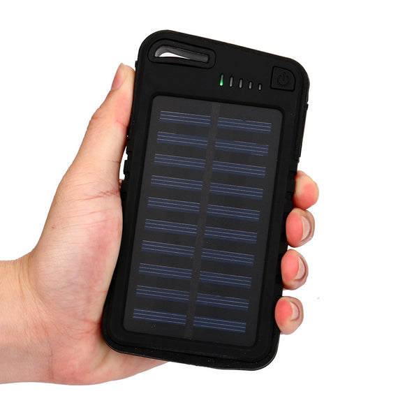 Dual Solar USB power bank 30000mah Waterproof