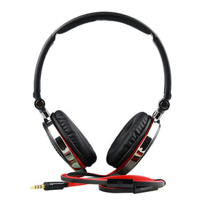 Foldable Wired Headphone Earphone w/ Mic