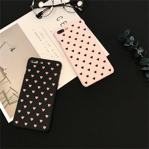 Lovely Heart Print Cell Phone Case for iPhones