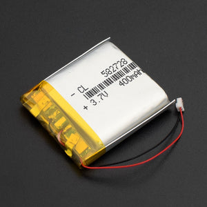 3.7V,400mAH, polymer lithium ion /Li-Po Rechargeable battery
