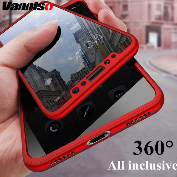 360 Degree Black Shockproof phone case for iPhones