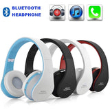 Bluetooth Wireless Headset Soft Leather Earmuffs Built-in Mic