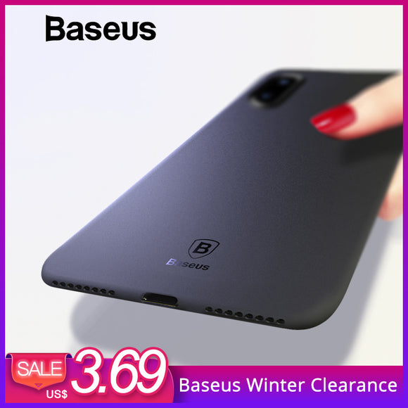 Baseus Luxury Smooth Matte Phone Case For iPhone X