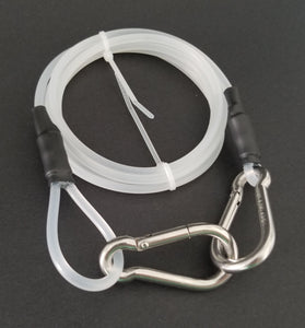 Flat Coil Reel Safety Leash - 6ft