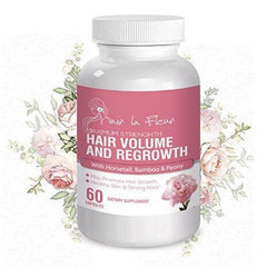 Hair La Fluer ★ Maximum Hair Growth for thinning, Damaged Hair ★ Island Formulation with Horsetail, Bamboo and Peony Extract