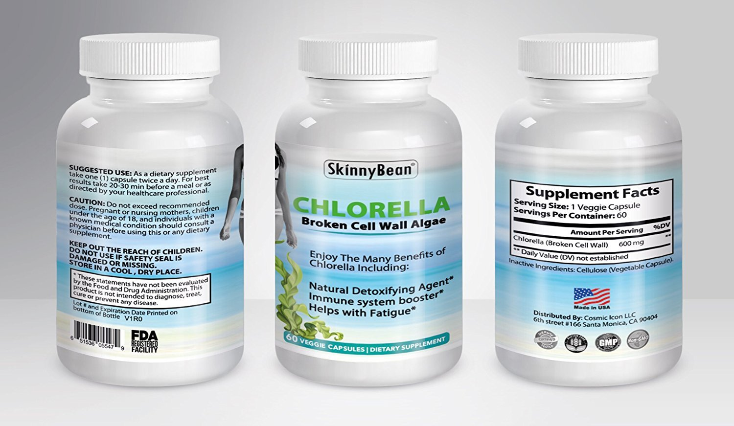 CHLORELLA PURE broken cell wall algae capsules