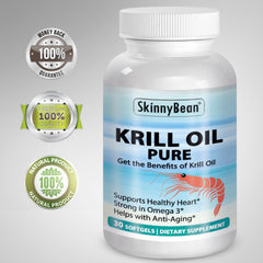 Krill Oil PURE soft gels vitamins extra strength supplement