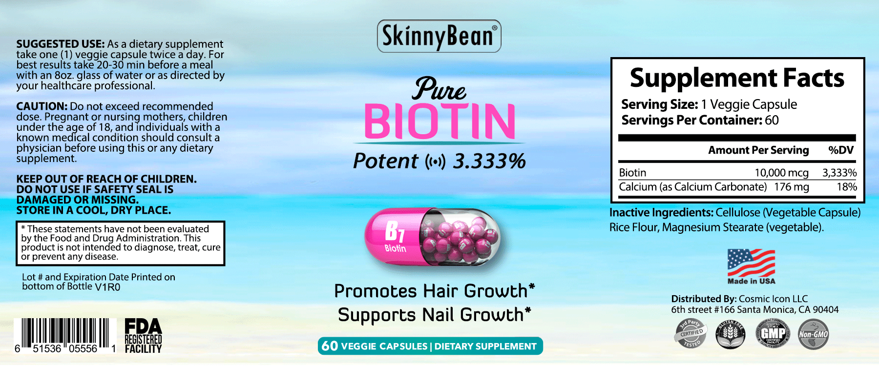 Natural + PURE Biotin skin and hair