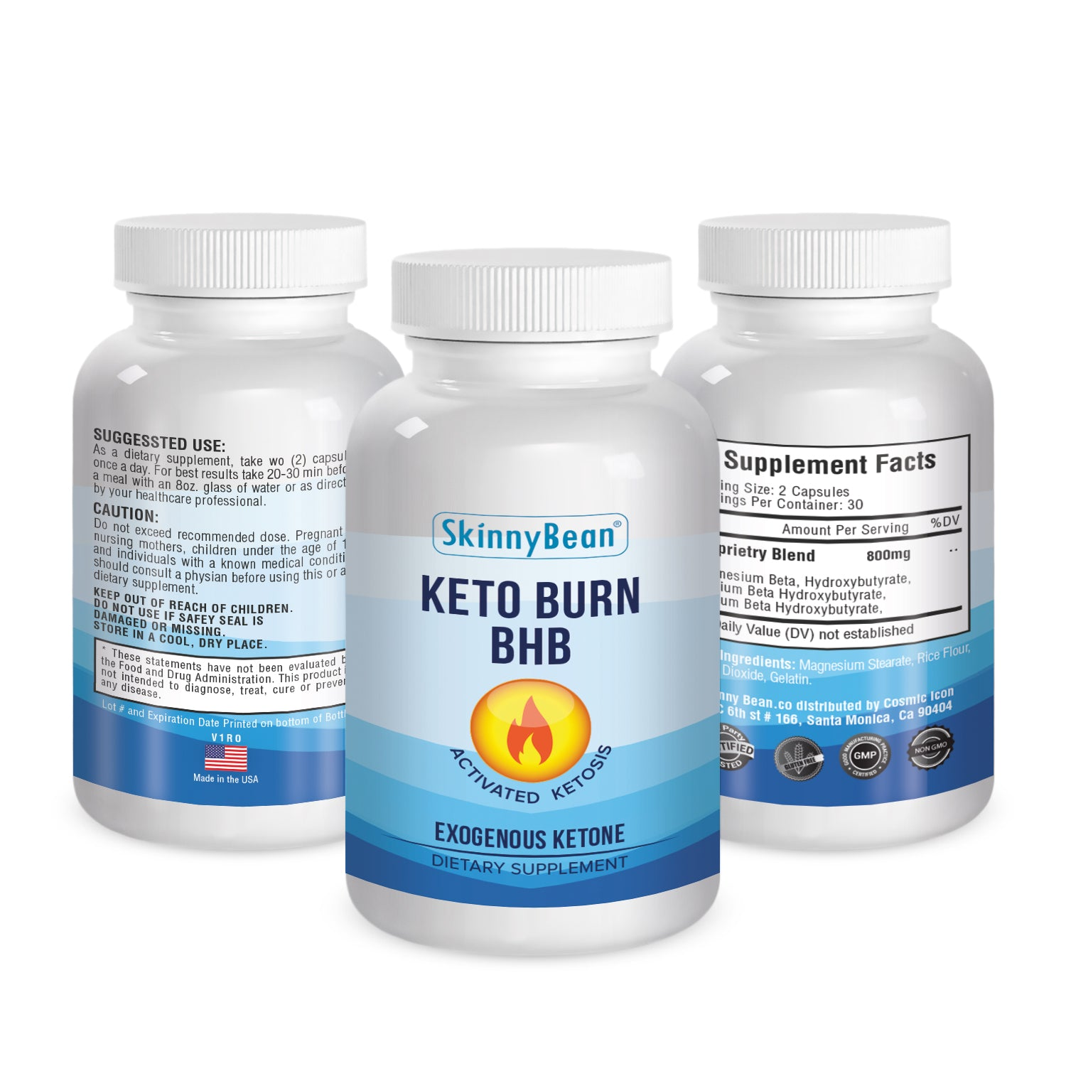 Keto Burn BHB with Exogenous Ketones by Skinny Bean