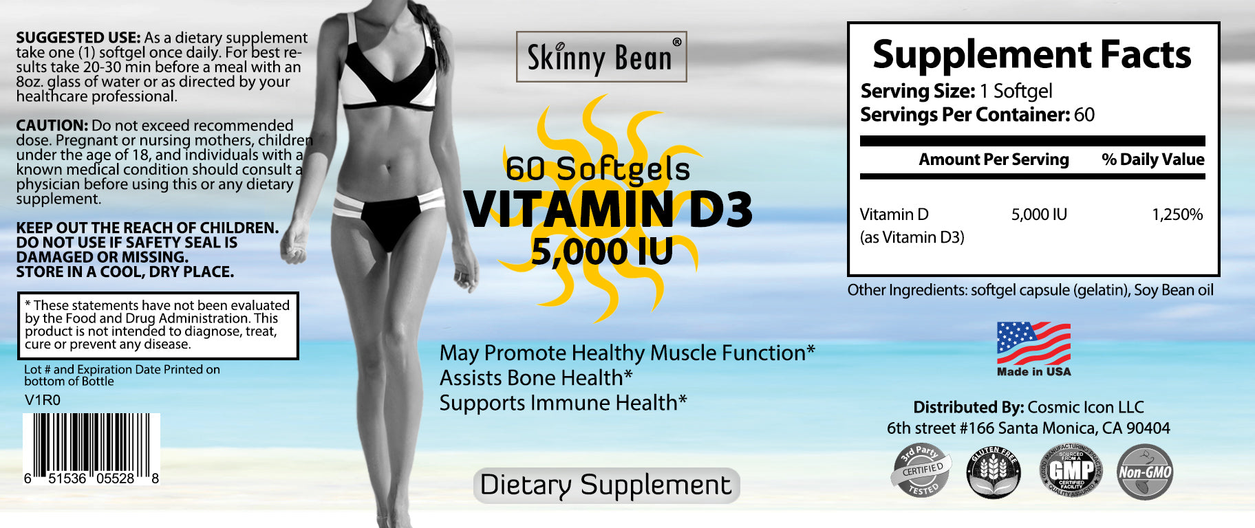 Vitamin D3 5000 iu SOFTGELS Maximum Purity & Strength