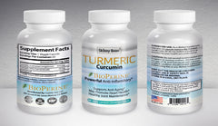 Turmeric | Curcumin| BioPerene® Pain Relief Anti Inflammatory pure ground formula capsules pills with black pepper