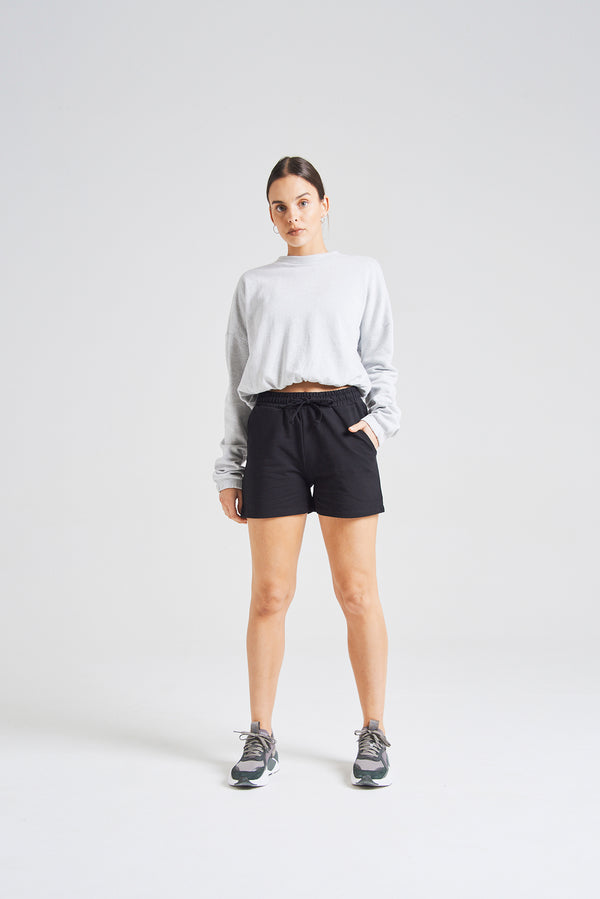 fasheon Black Basic Mini Sport Shorts