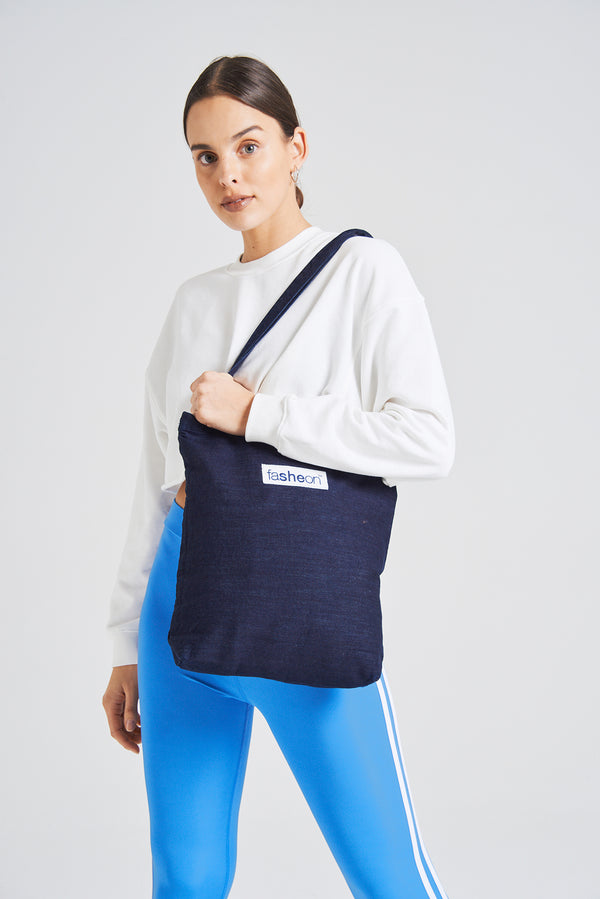 Fasheon Navy Denim Bag