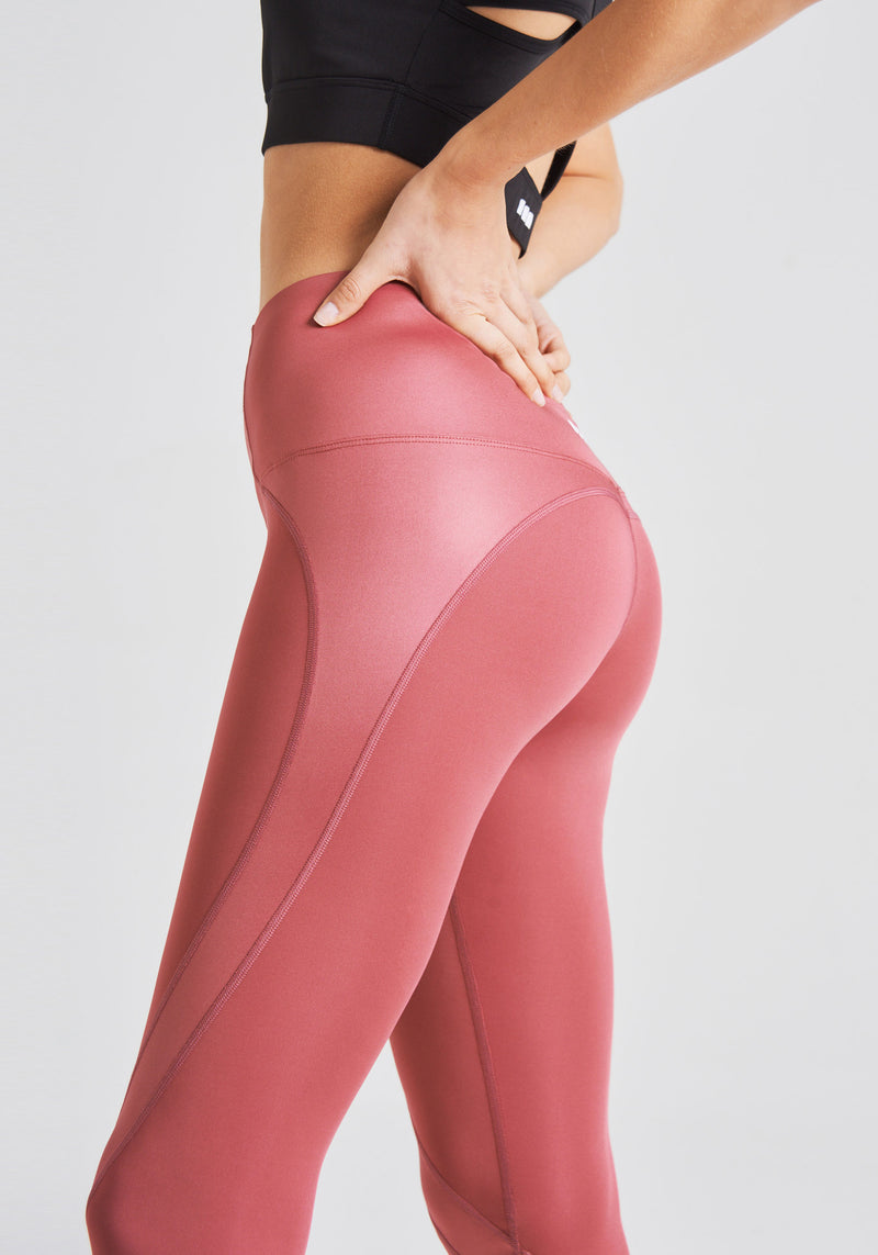 fasheon Red High Waisted Sports Leggings