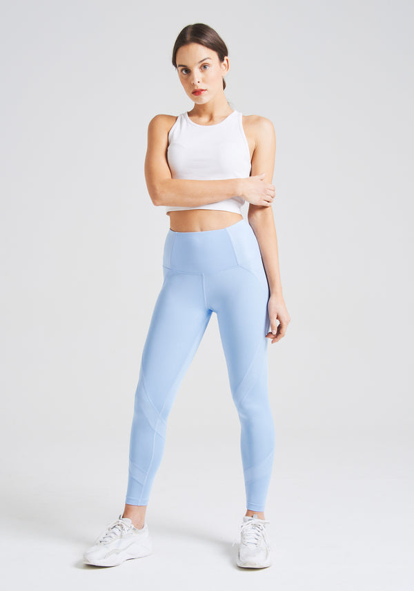 fasheon Baby Blue High Waisted Sports Leggings
